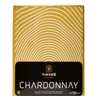 Chardonnay Bag in box 3L Tikves