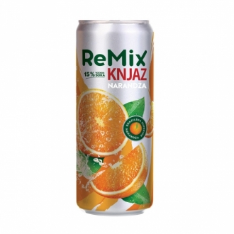 Knjaz Remix Sup. Orange 0.33L CAN (12 kom u paketu)